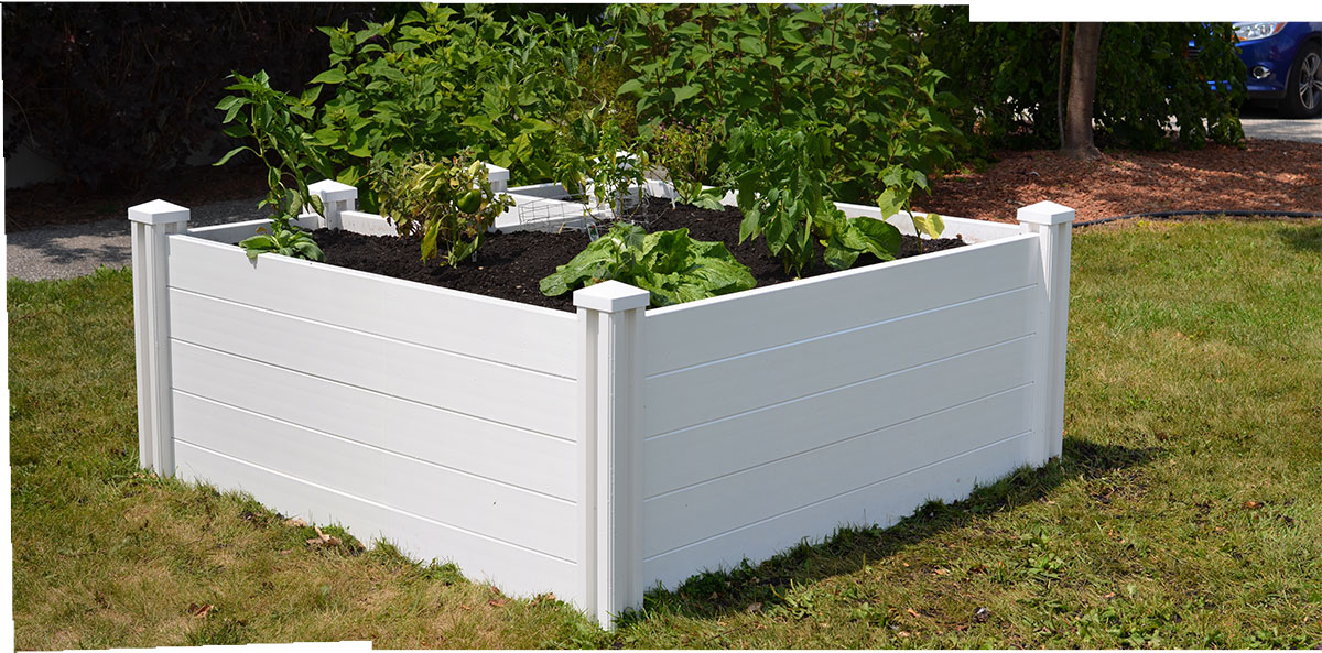 precision fence company of long island new england arbors keyhole garden project - Keyhole Garden Kit