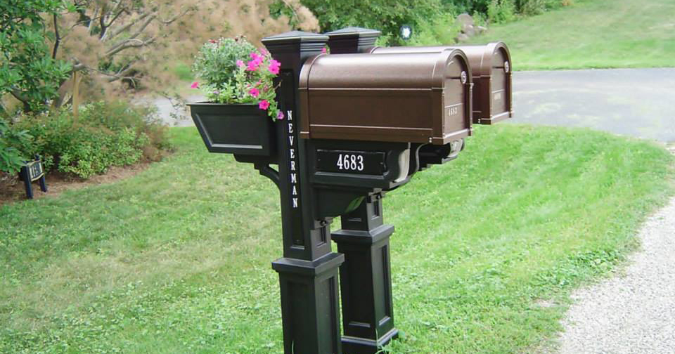 precision fence company delivers and installs decorative mailboxes and mail posts - Decorative Mailboxes